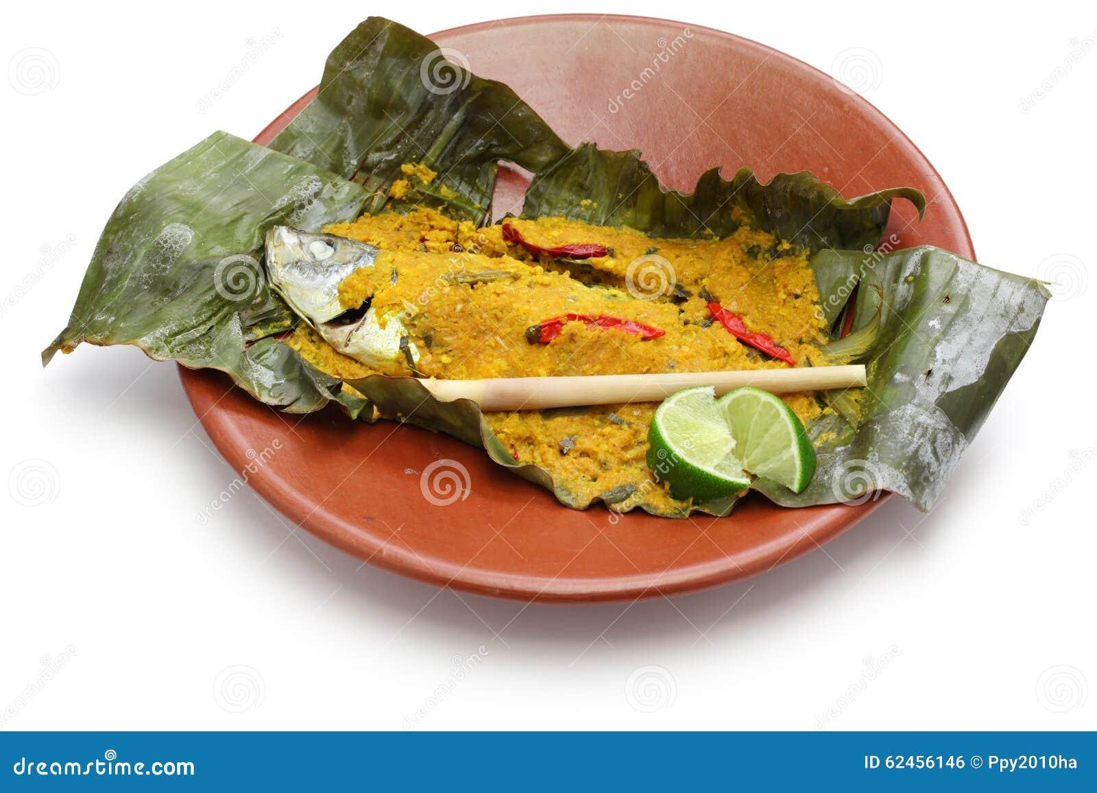 ikan-pepes, indonesische küche stockfoto - bild: 62456146
