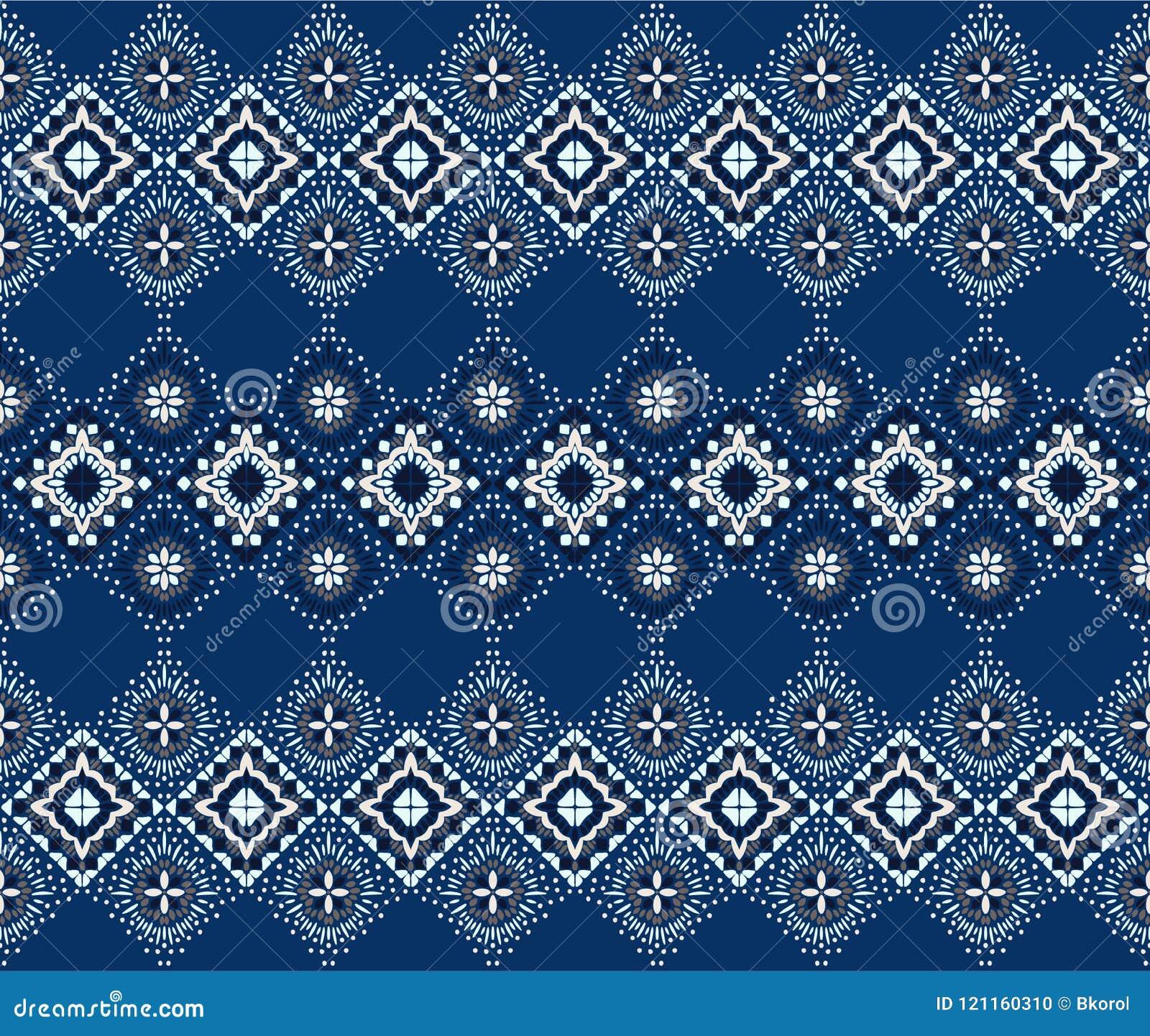 Ikat几何民间传说装饰品 部族种族传染媒介纹理 在阿兹台克样式的无缝的条纹图形