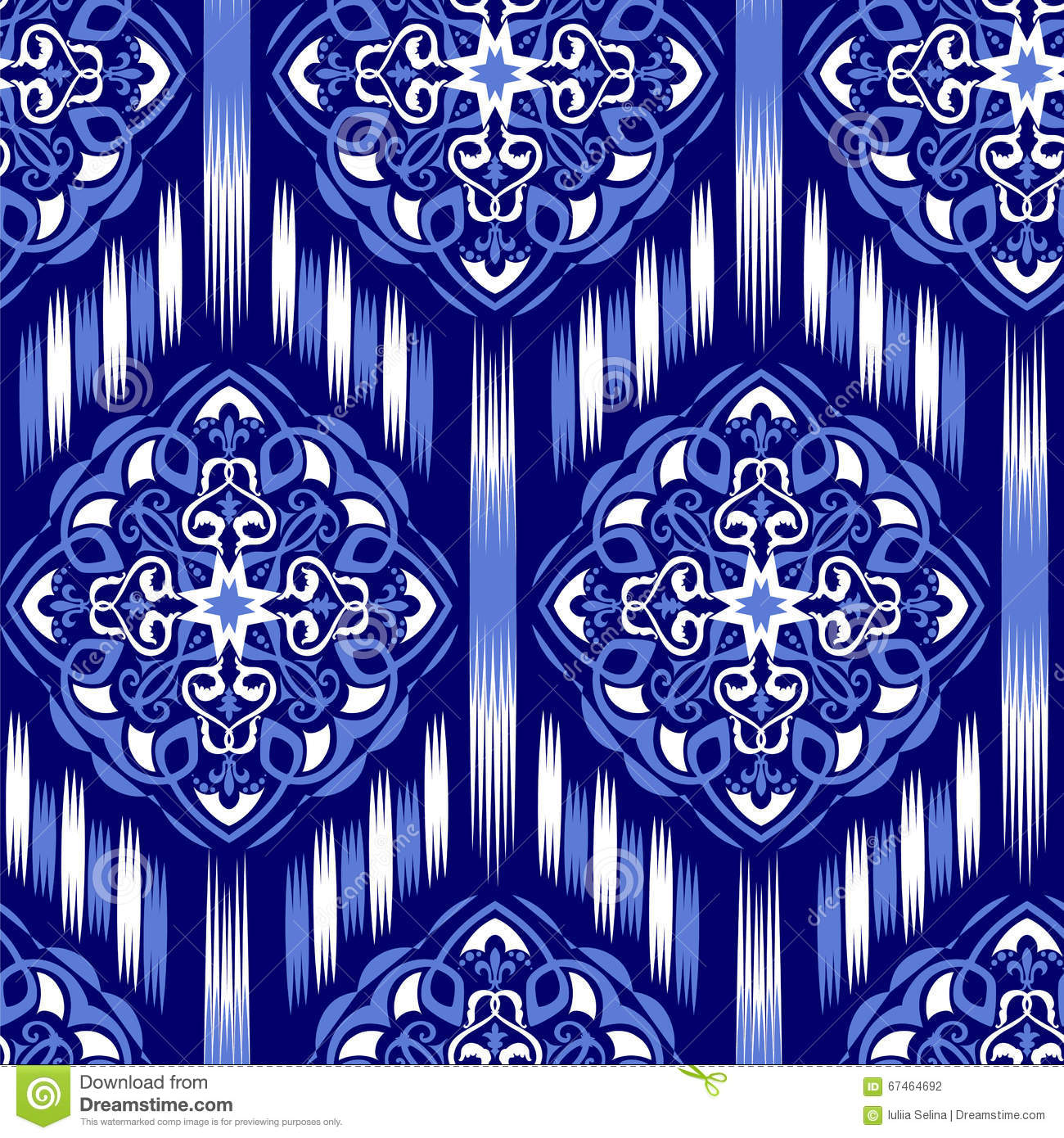 Blue Tribal Wallpapers: Ikat Ogee Background 17 Stock Photo. Image Of Fall, Arabic