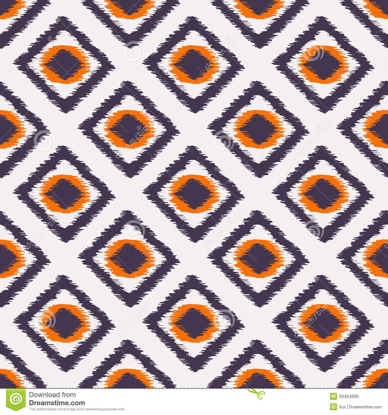 Ikat Seamless Pattern For Web Design Or Home Decor Stock