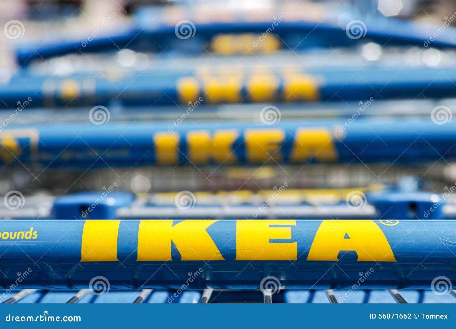 Ikea-boodschappenwagentjes