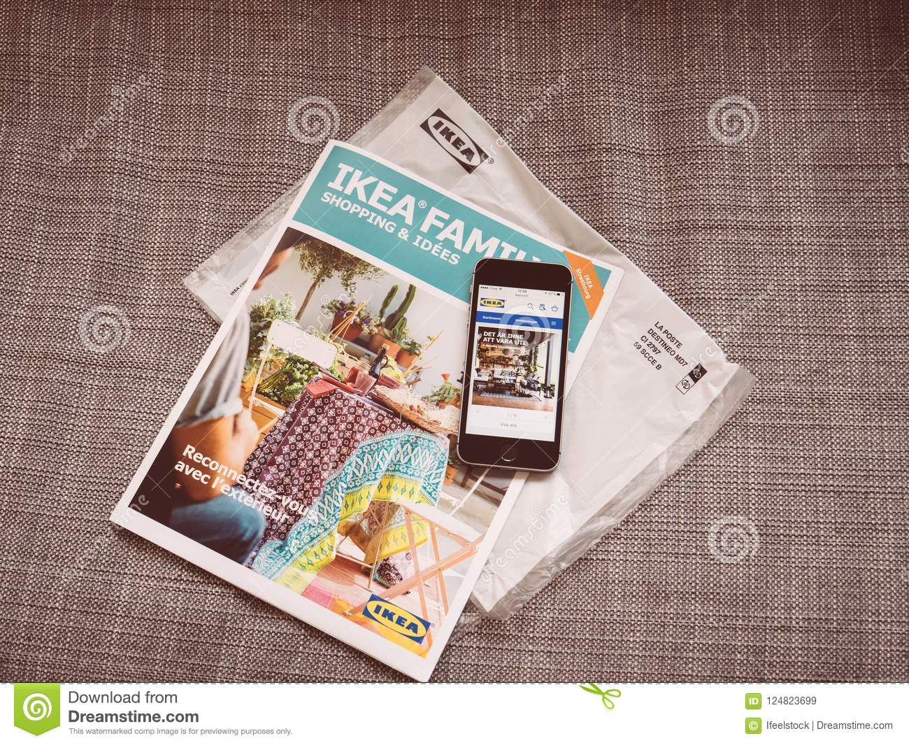 Ikea Family Monthly Catalogue And Smartphone With Ikea Website