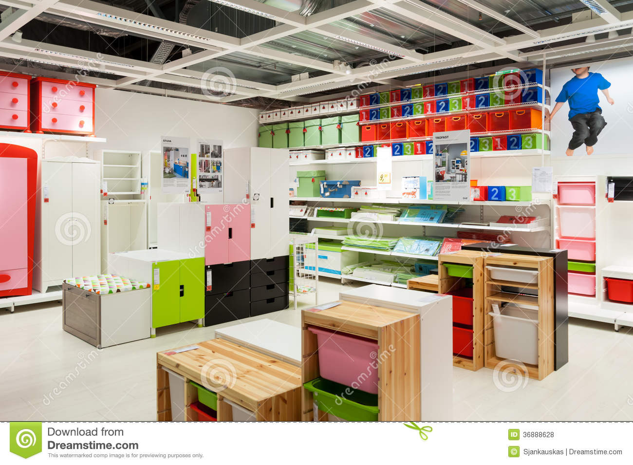 Ikea Furniture Store Kids Zone Editorial Stock Photo Image Of Center Homely 36888628