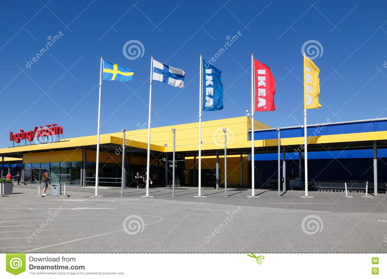 Ikea Haparanda Exterior Editorial Image Image 75594525