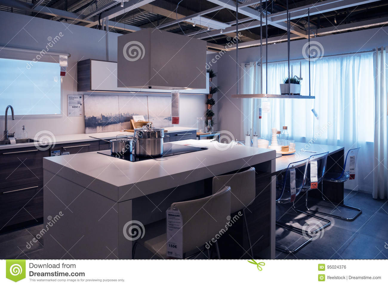 ikea kitchen store model home shopping editorial photo image