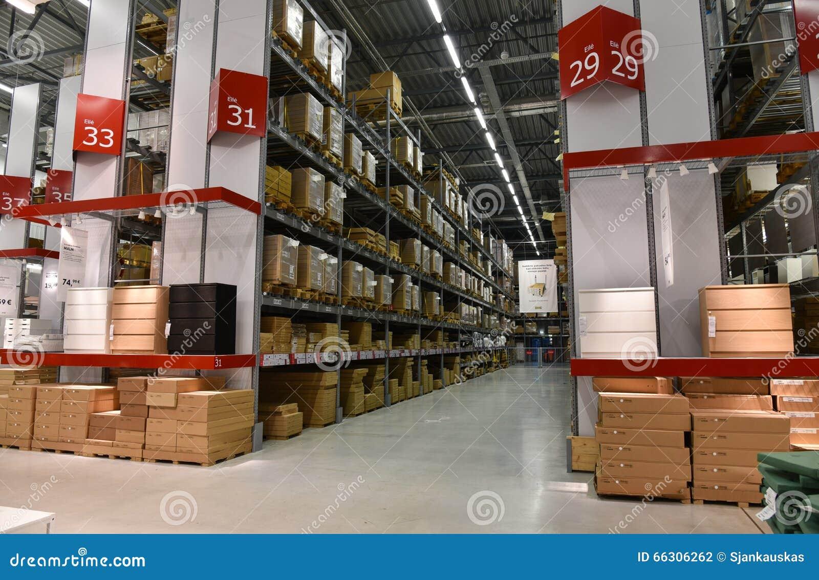 Download Ikea Lagern Ein Redaktionelles Stockfotografie. Bild Von Behälter    66306262