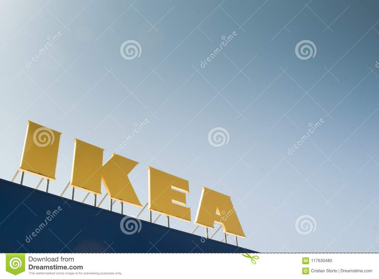 Ikea Logo On Top Of A Store Editorial Image Image Of Modern Ikea