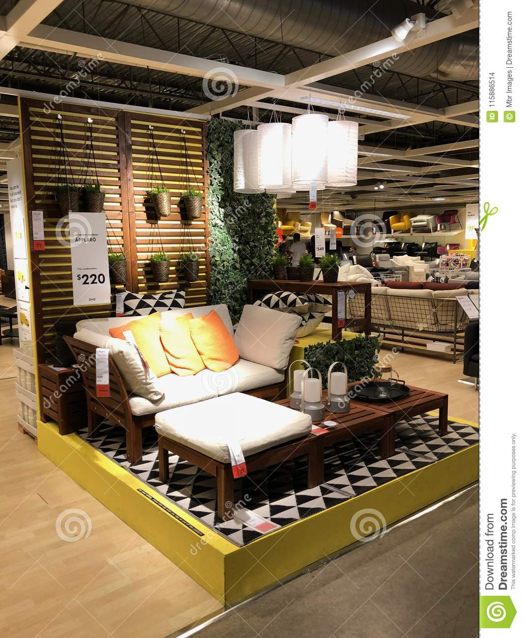 Ikea store editorial stock image. Image of armchair - 115886514