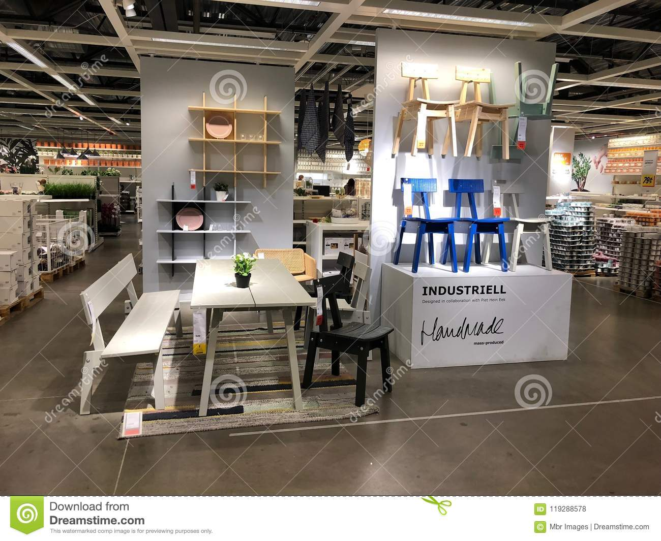 Ikea store editorial stock photo. Image of furniture - 119288578
