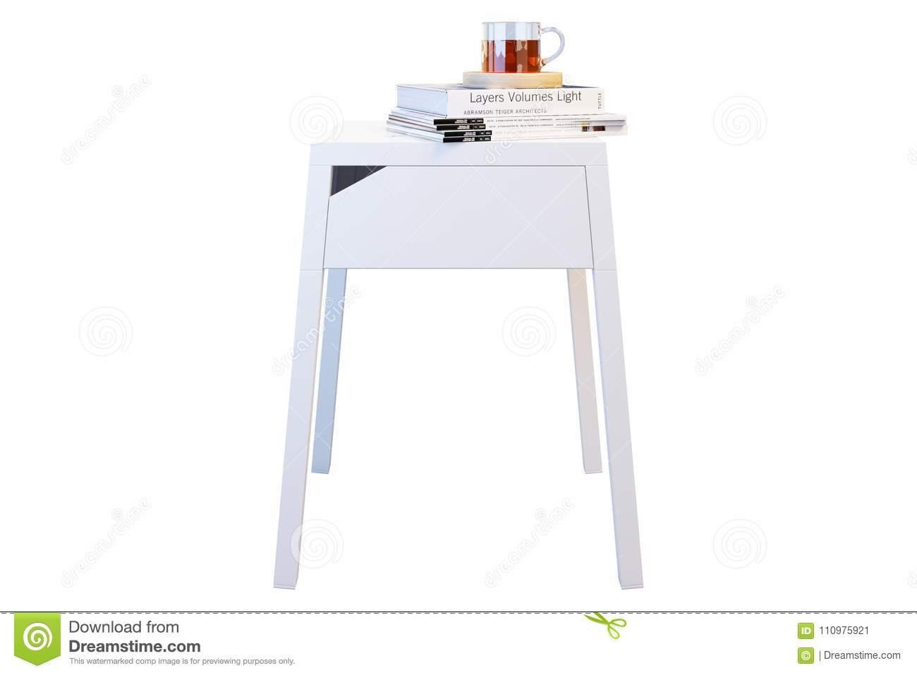 Picture of: Ikea Selje Bedside Table Editorial Photo Illustration Of Render 110975921