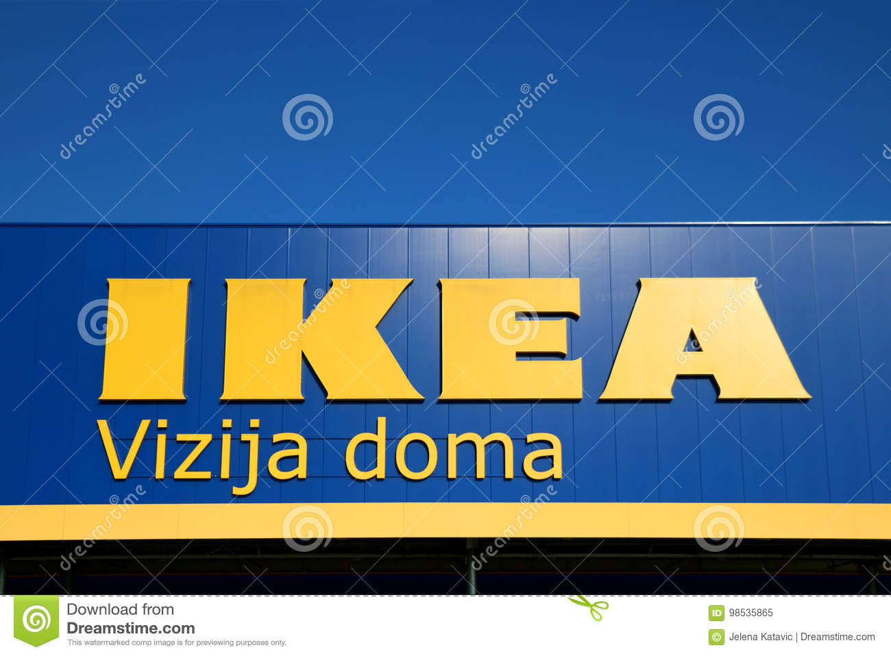Ikea Sign editorial image  Image of yellow, logo, editorial
