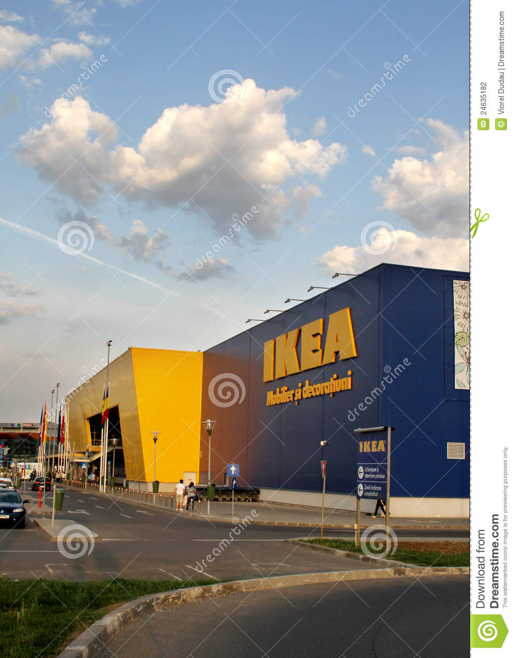 ikea store logo editorial photo 77071549. Black Bedroom Furniture Sets. Home Design Ideas