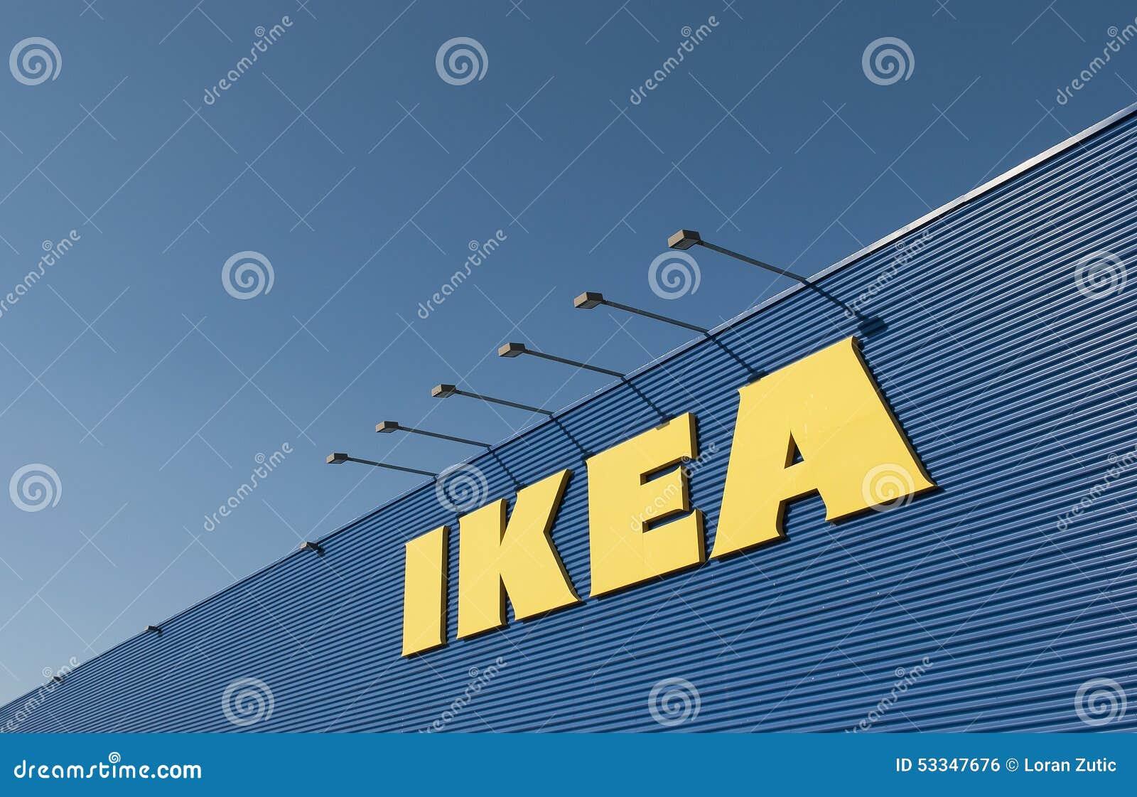 Ikea teken op ikea markt redactionele foto   afbeelding: 53347676
