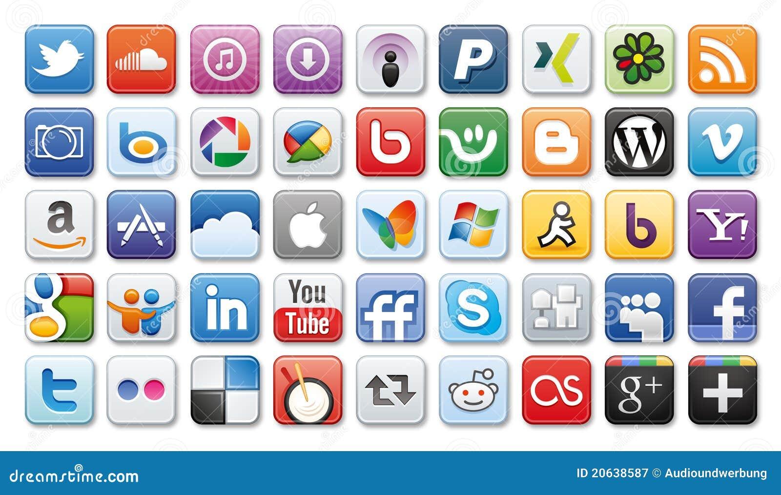 Ikon medialny sieci socjalny
