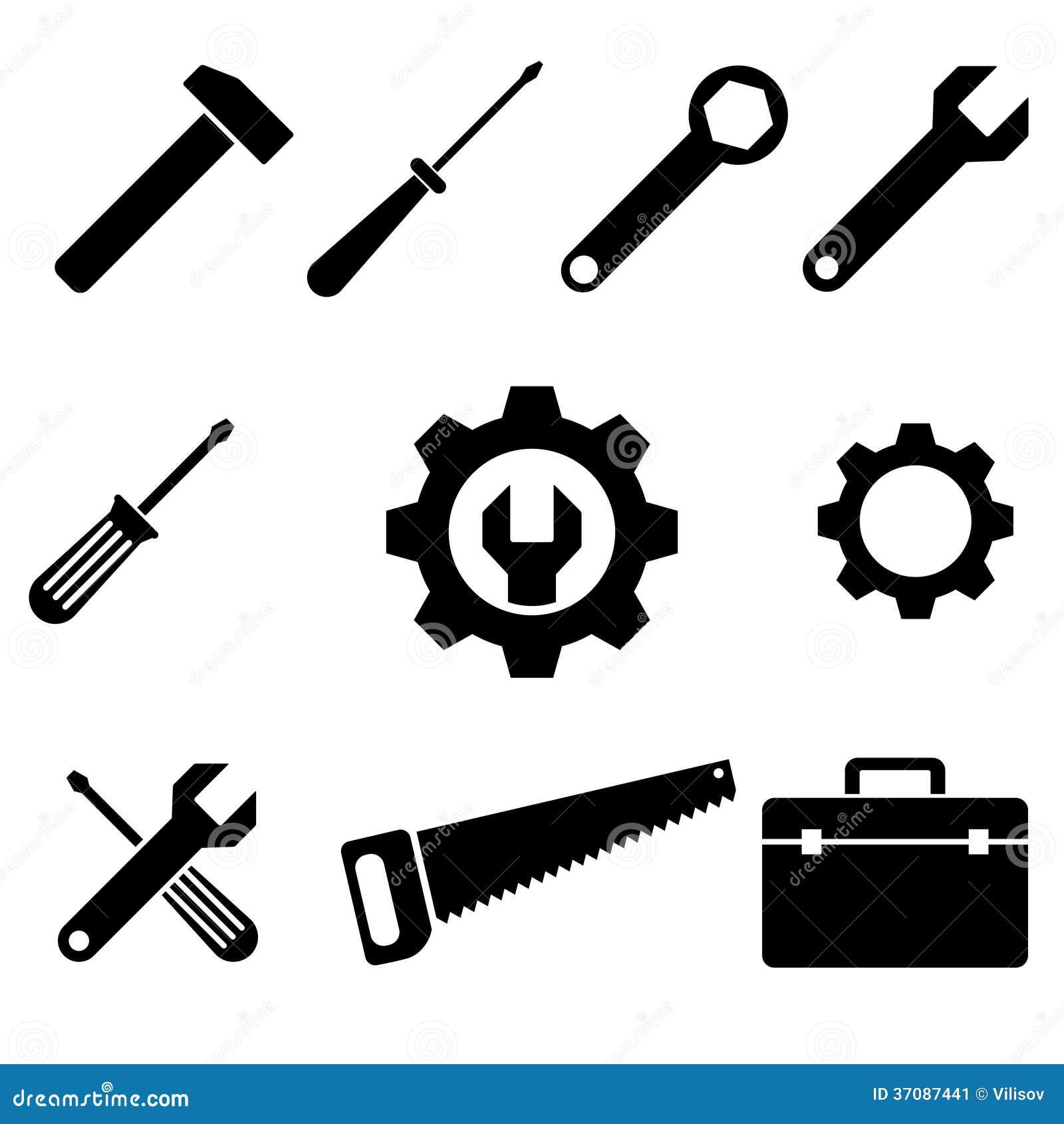 Download Ikon narzędzia obraz stock. Obraz złożonej z wyznaczający - 37087441