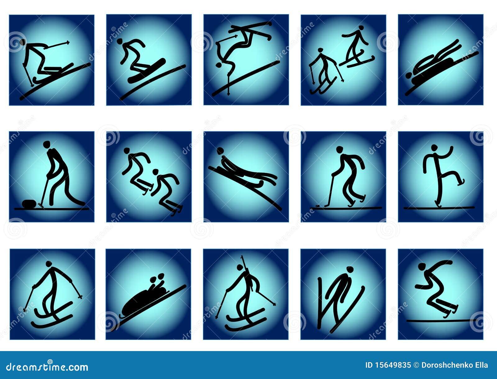Ikon olimpijska sportów zima