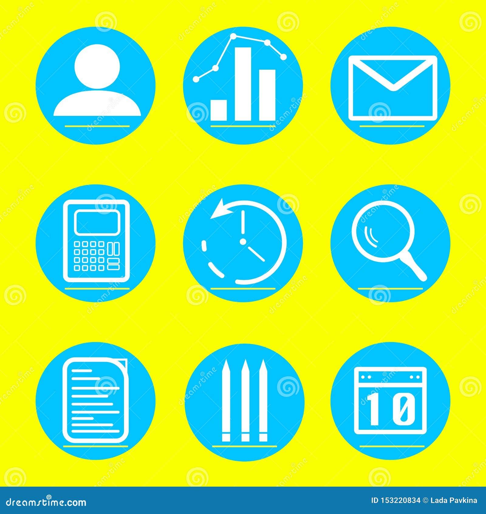 Ikona biznes i finanse ilustracja