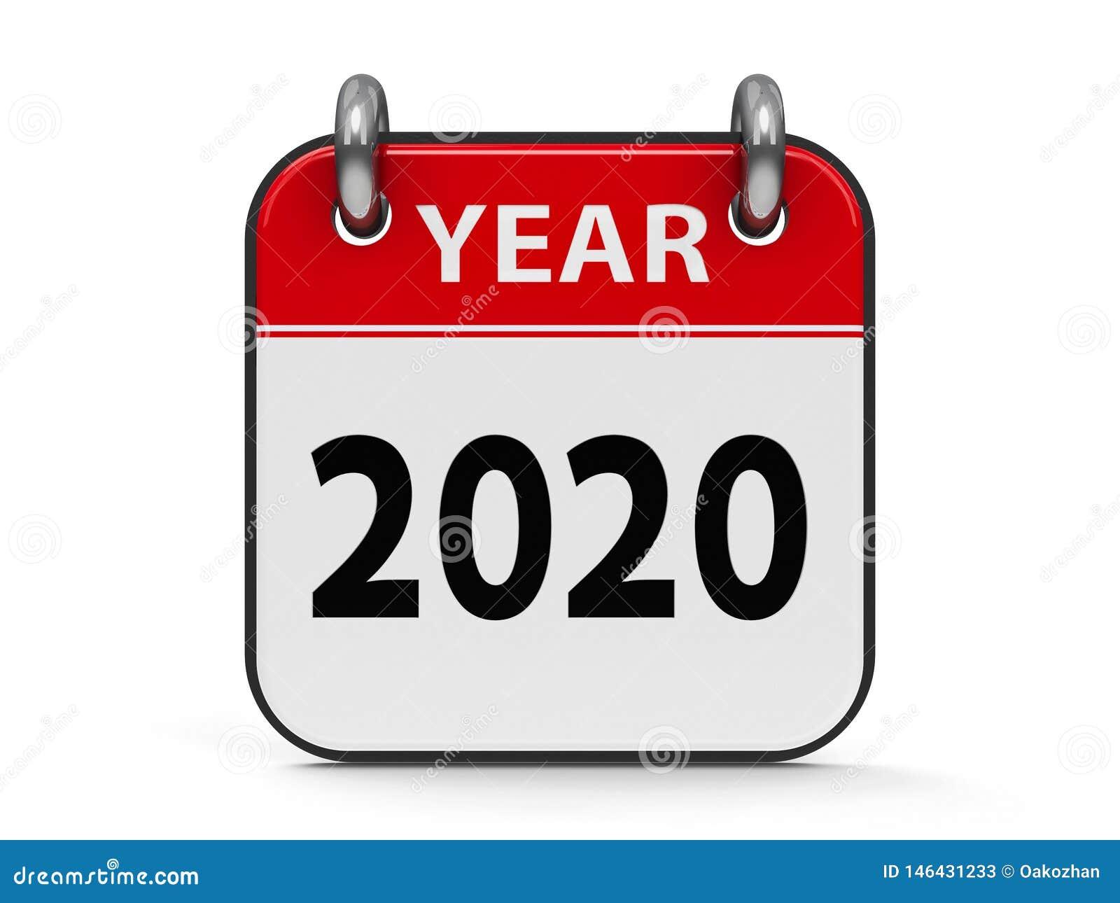 Ikona kalendarz 2020 rok