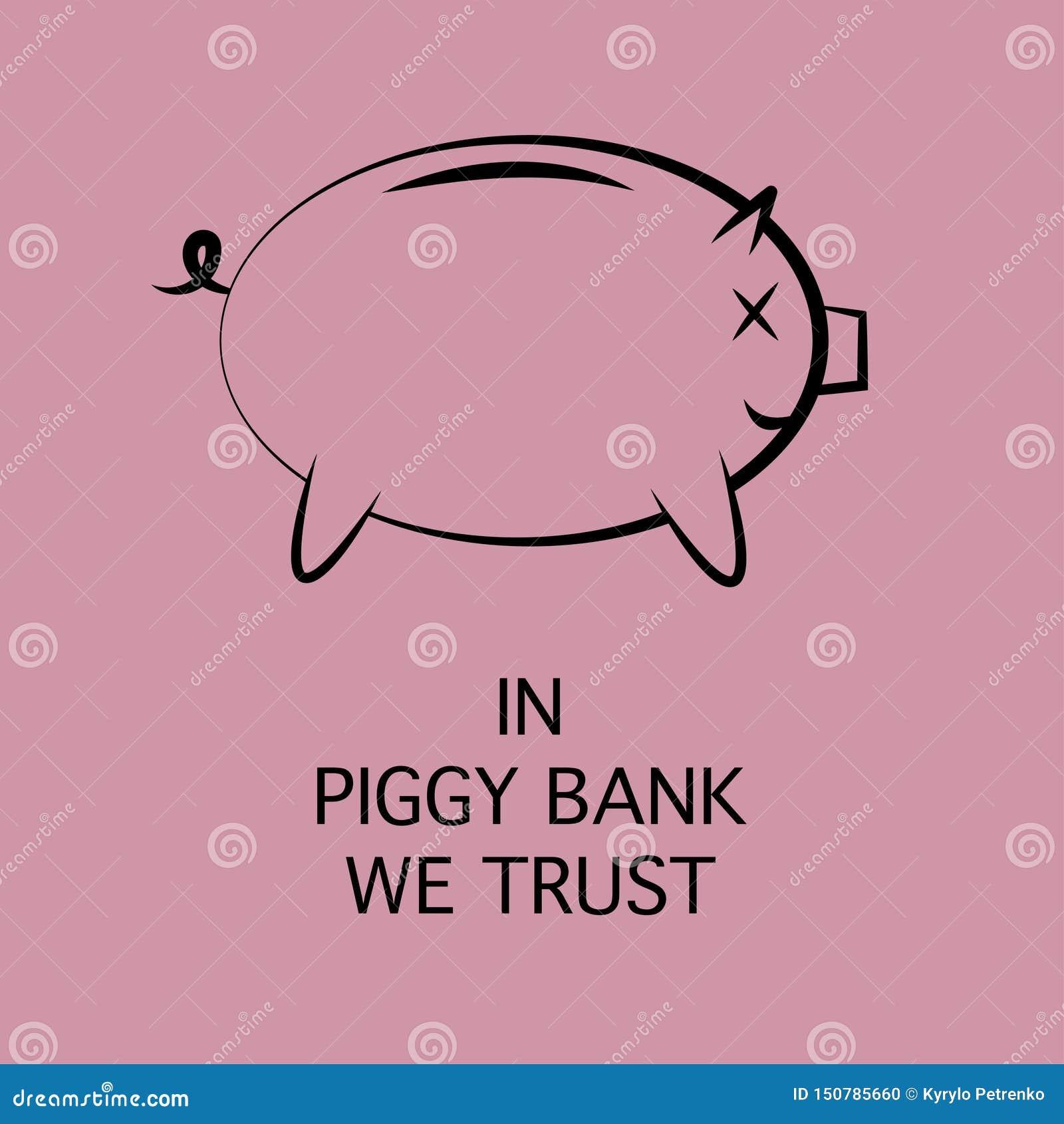 Ikona prosiątko bank dla pieniądze oszczędzania