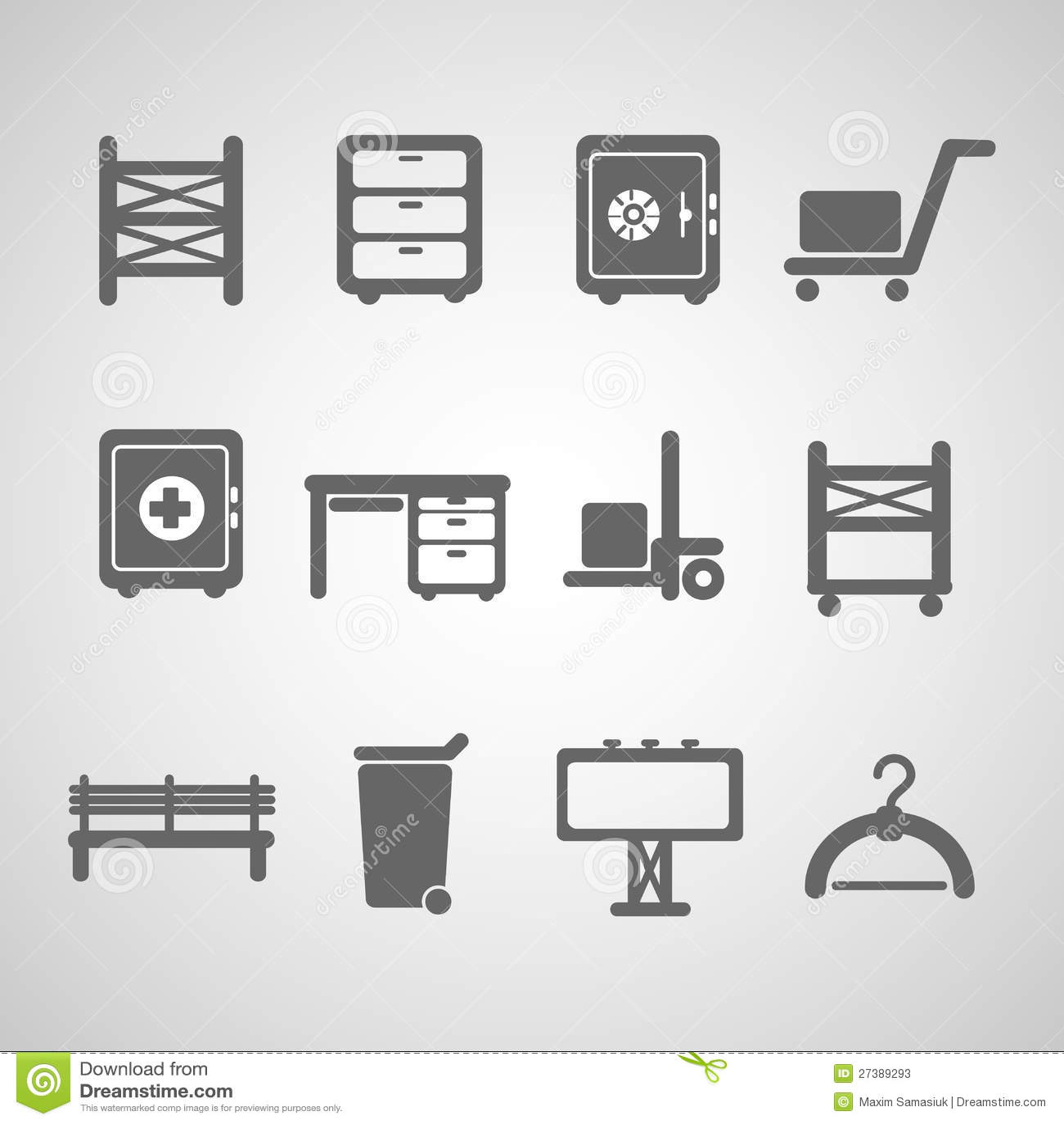 Ikona przemysłowy set