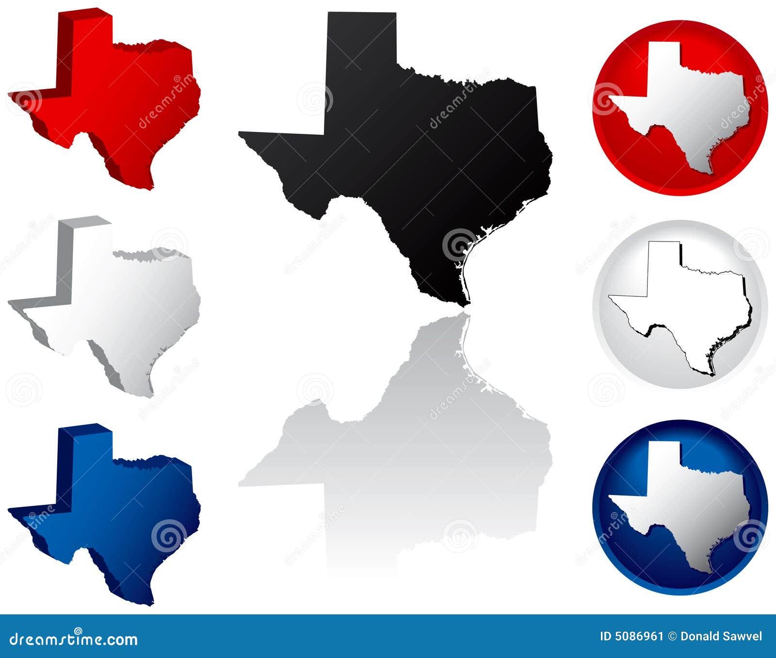 Ikona stan Teksas