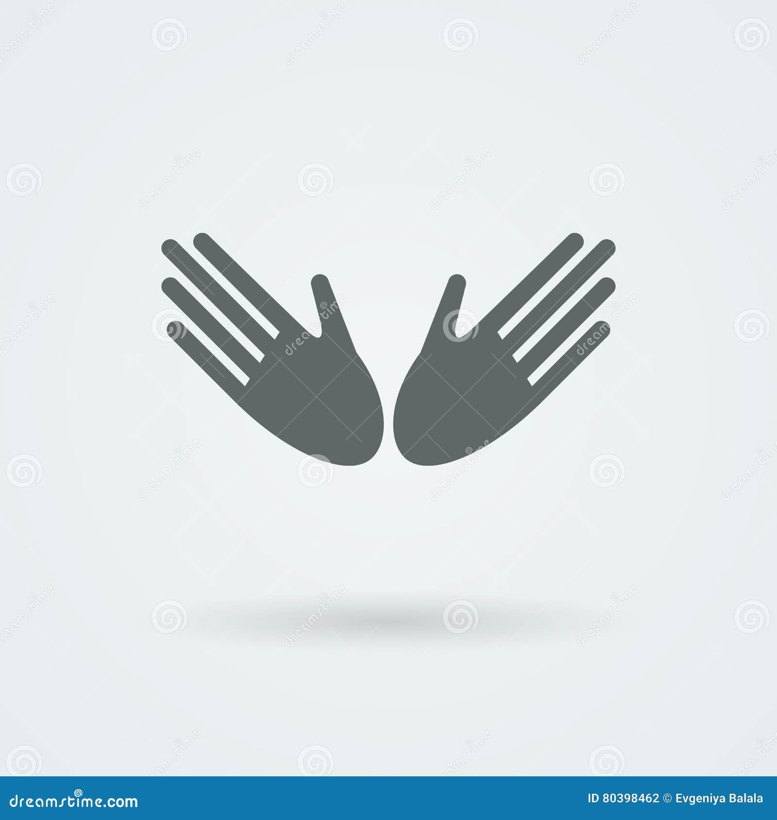 Ikona z dwa wektorowymi rękami w uścisku dłoni wita Pary praca przyjaźń
