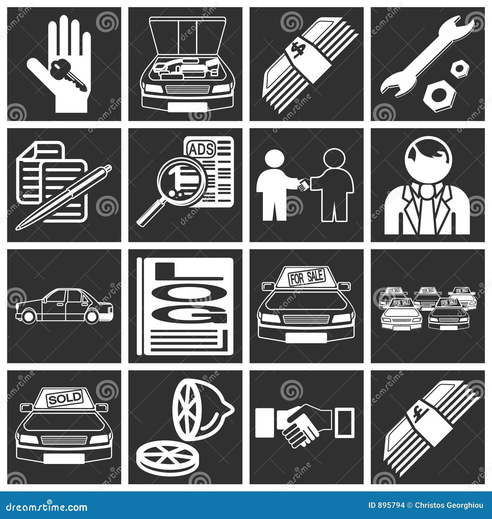 Ikona zakup samochodu