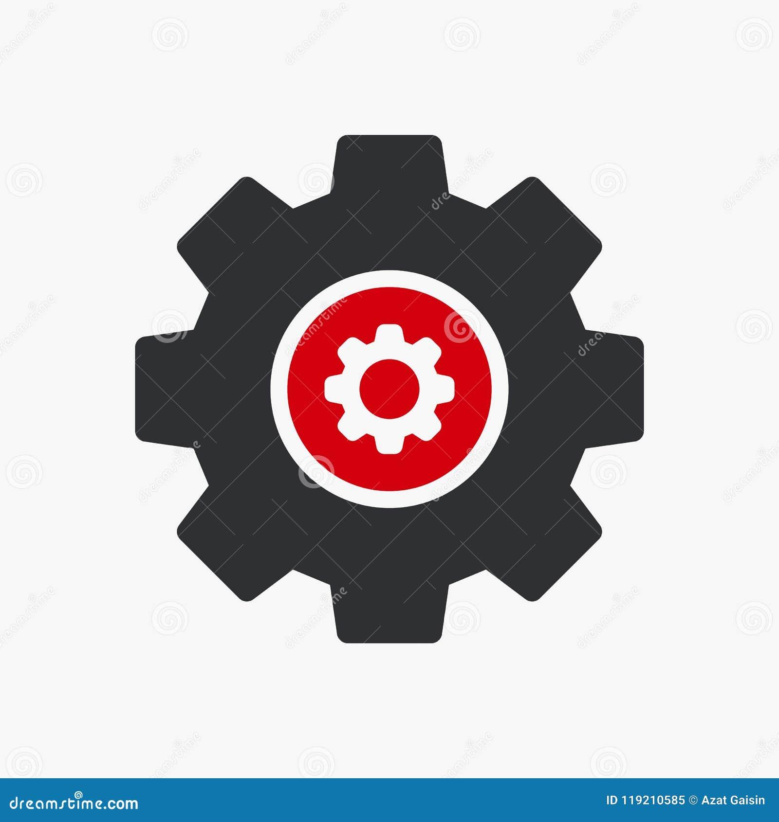 Ikone der Einstellungen Ikone, der Werkzeuge und der Geräte mit Einstellungen unterzeichnen Einstellungsikone und fertigen besond