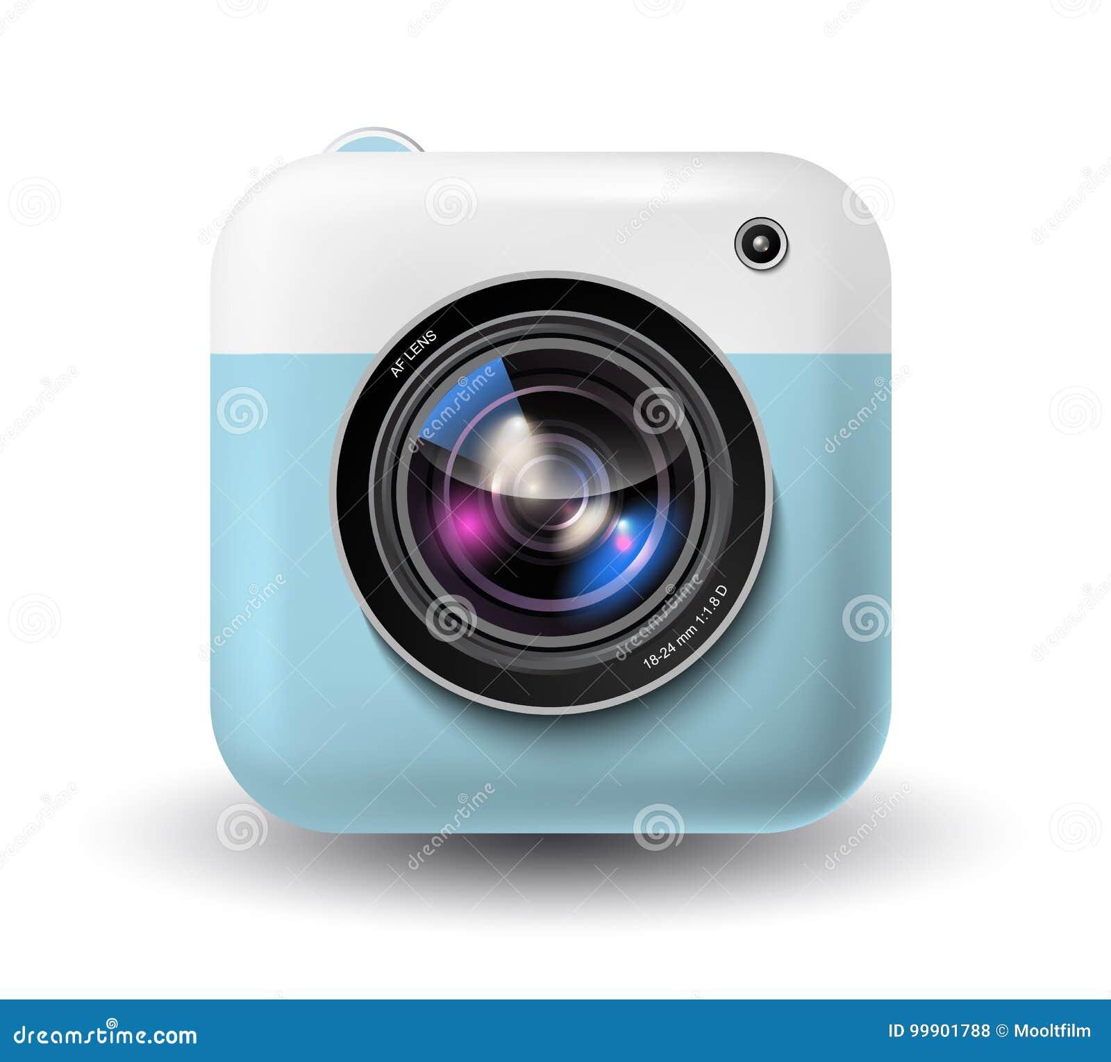 Ikone der sofortigen Kamera des Vektors