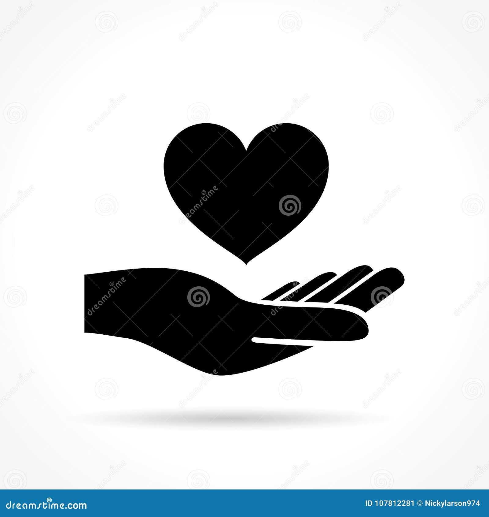 Ikone des Herzens in der Hand