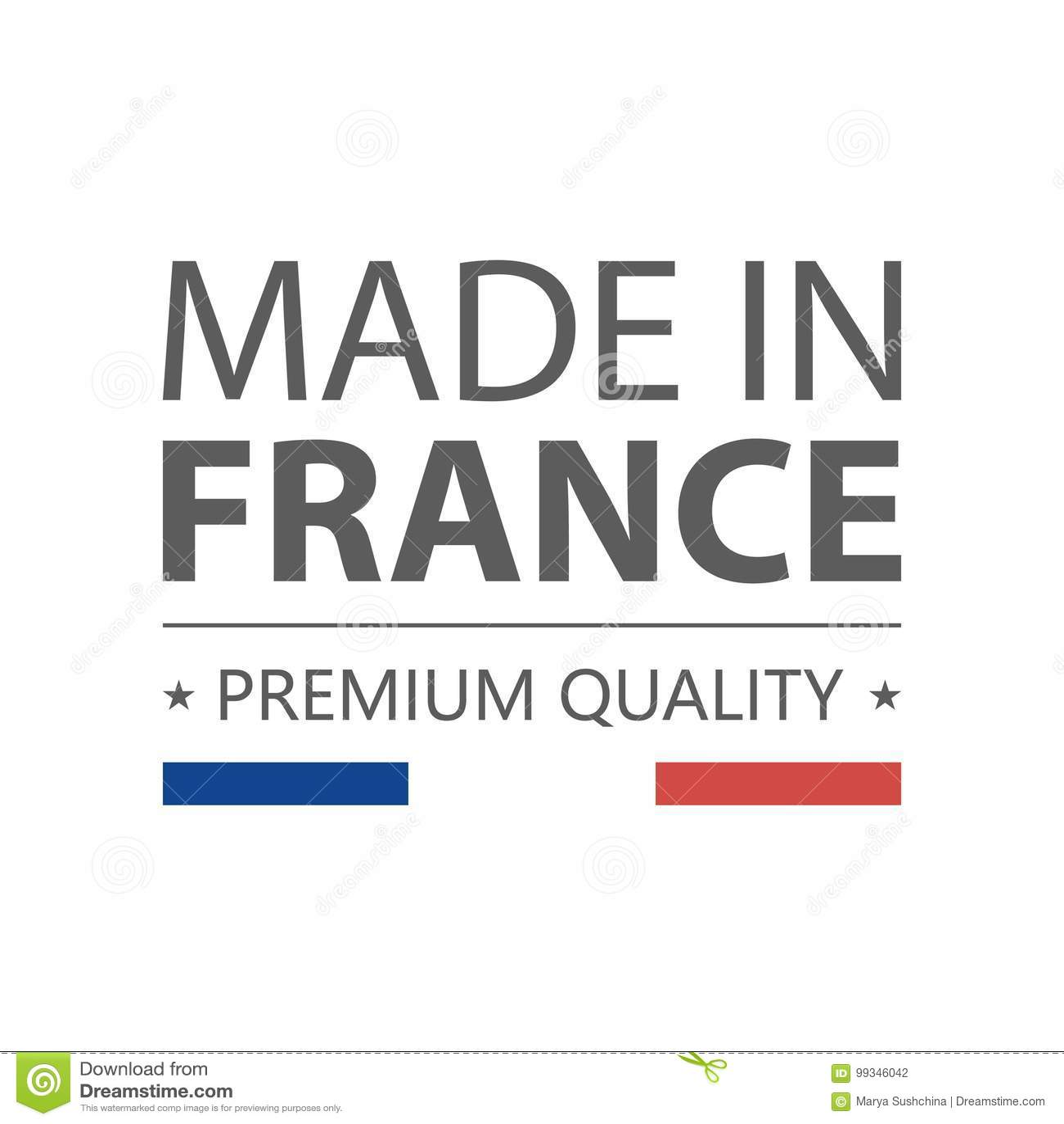 Ikone Gebildet In Frankreich Erstklassige Qualität Aufkleber