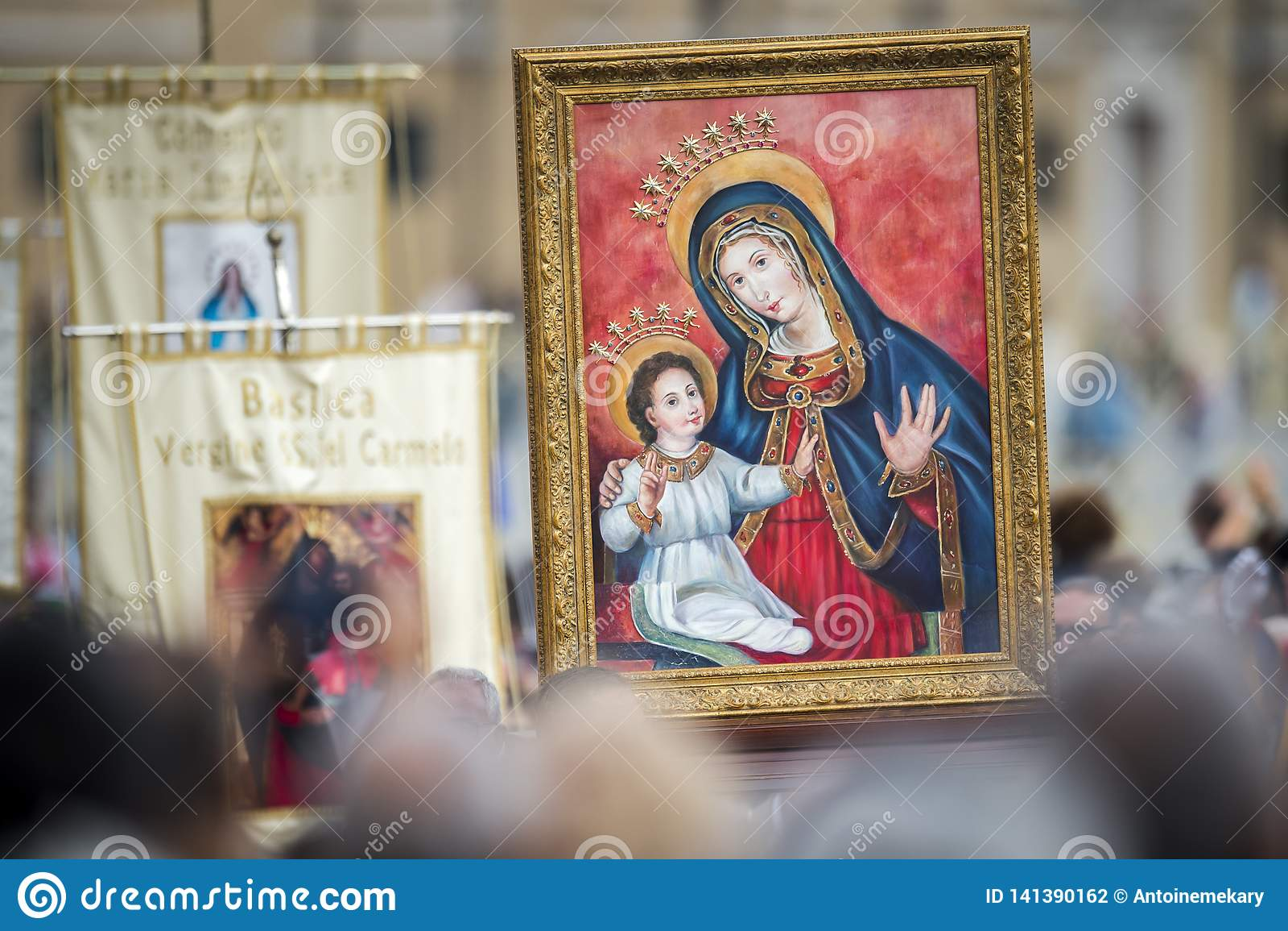 Ikone unserer Dame Mary und Jesus Child