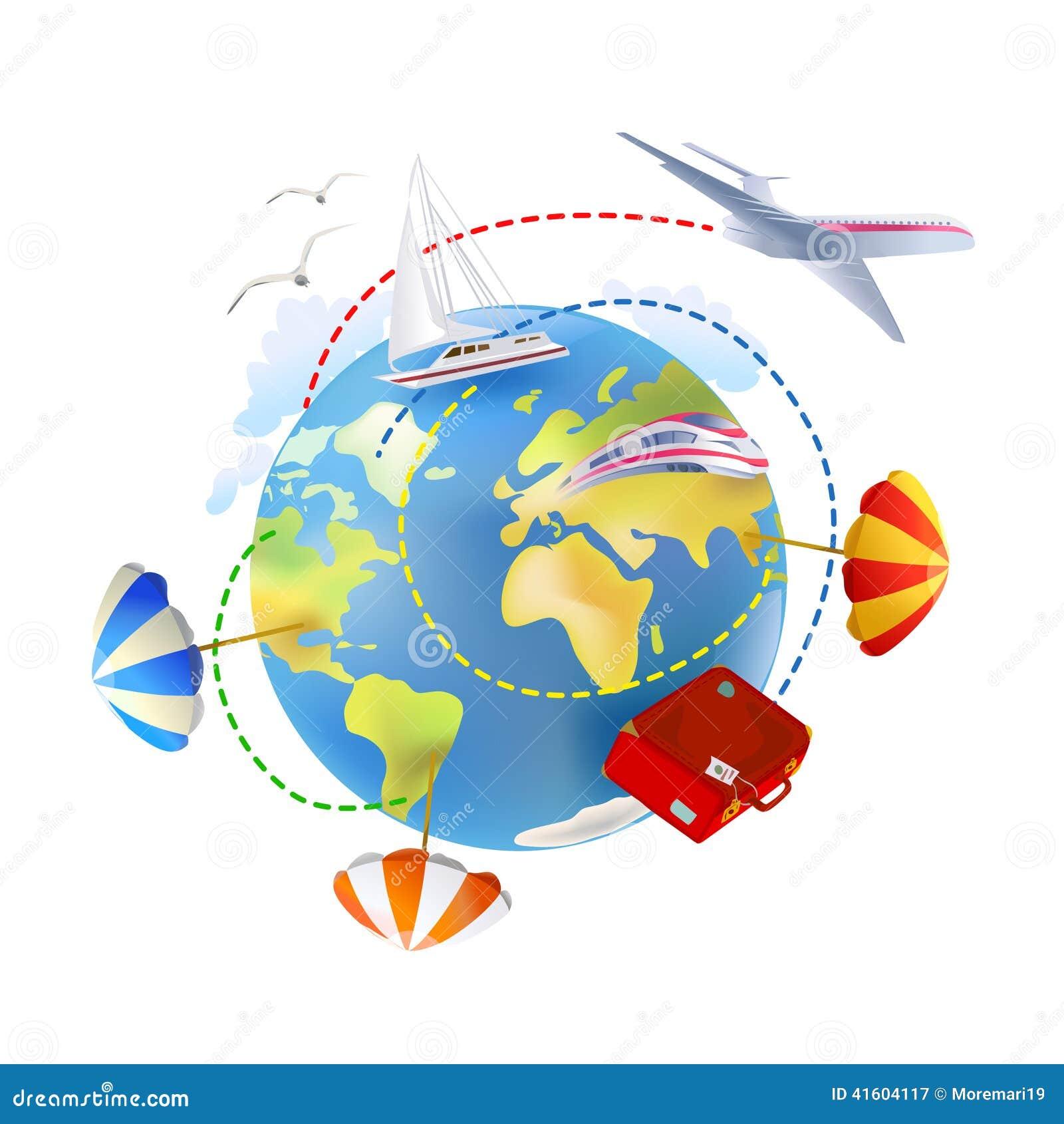 ikone von rund um den globus reisen vektor abbildung. Black Bedroom Furniture Sets. Home Design Ideas