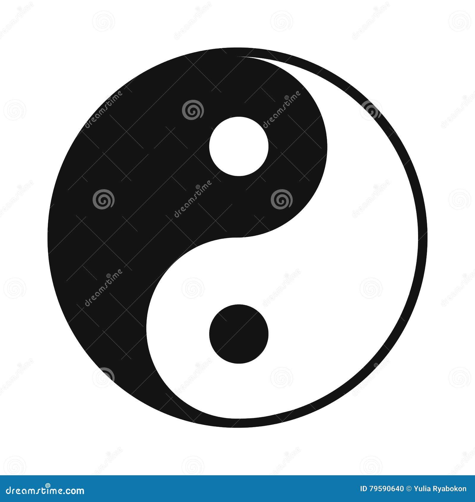 Ikone Ying Yang, einfache Art