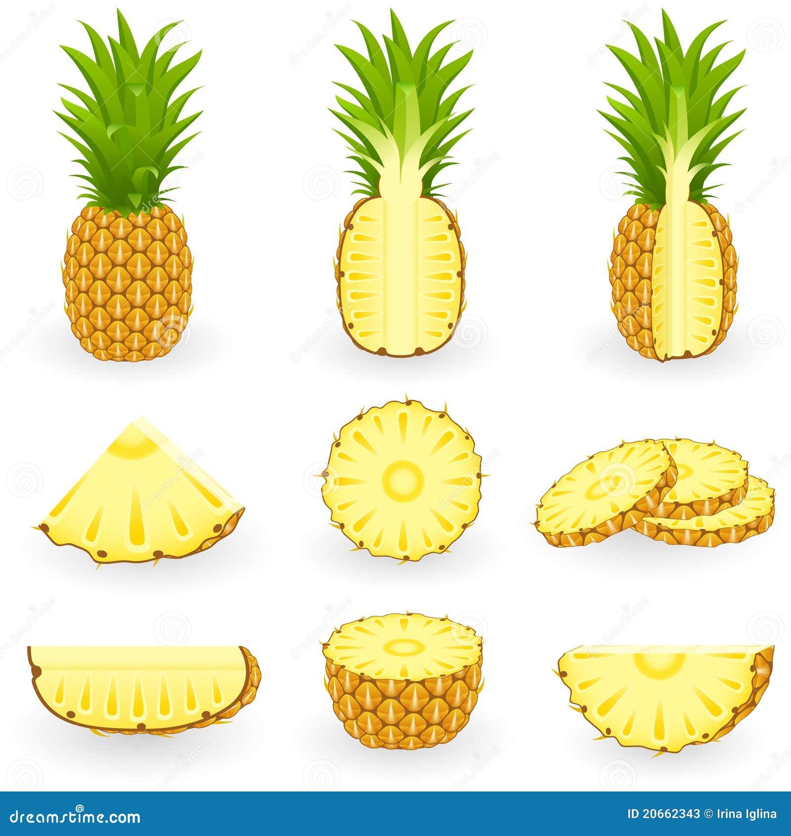 Ikonen-gesetzte Ananas
