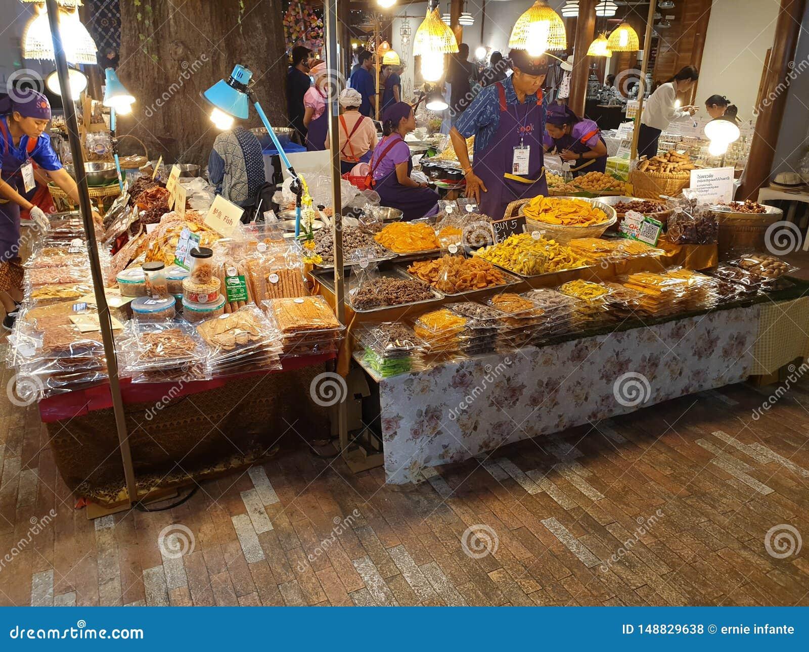 Ikonen-Siam-Mallinnenwassermarkt Bangkok, Thailand