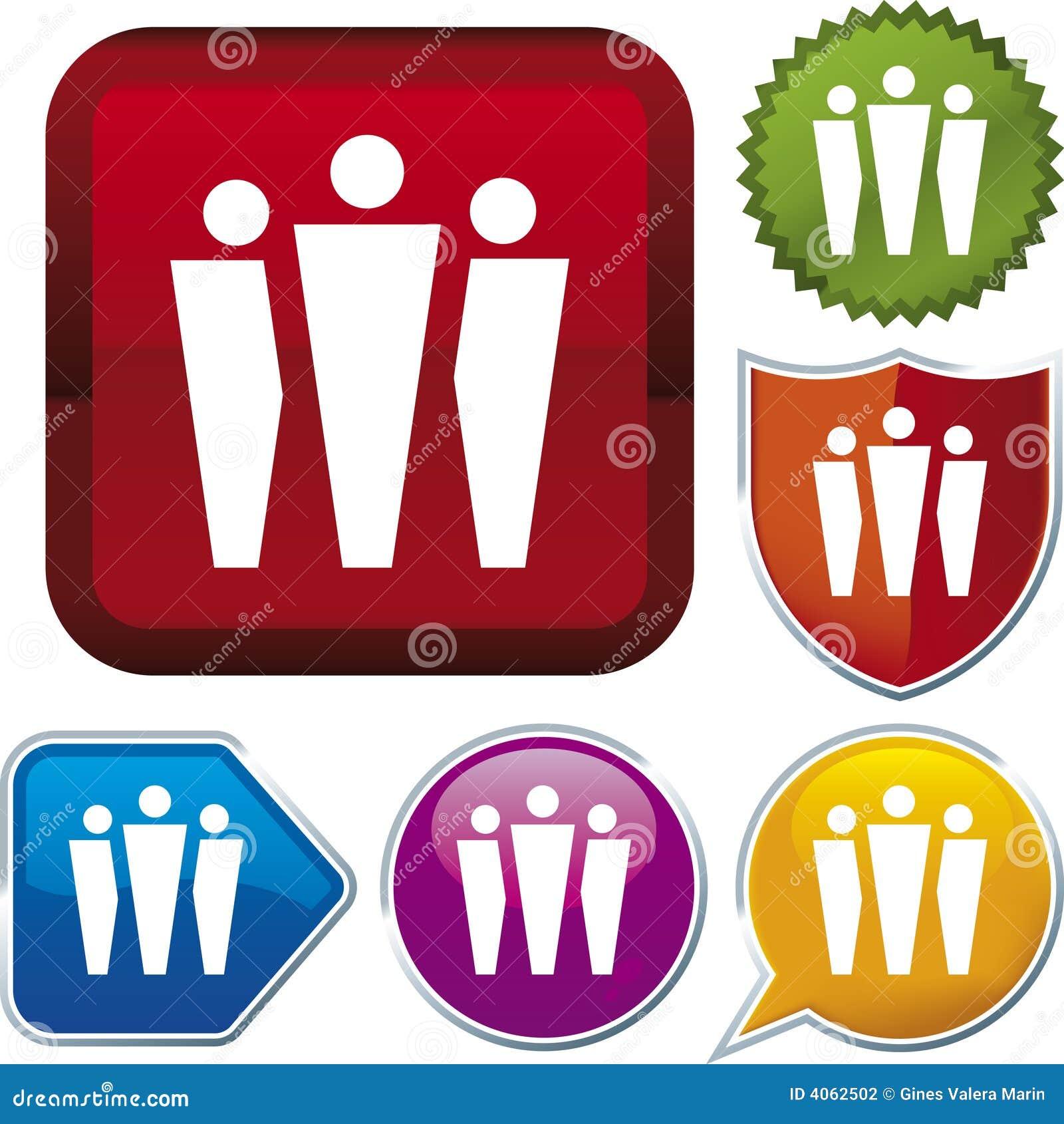 Ikonenserie: Gruppe (Vektor)