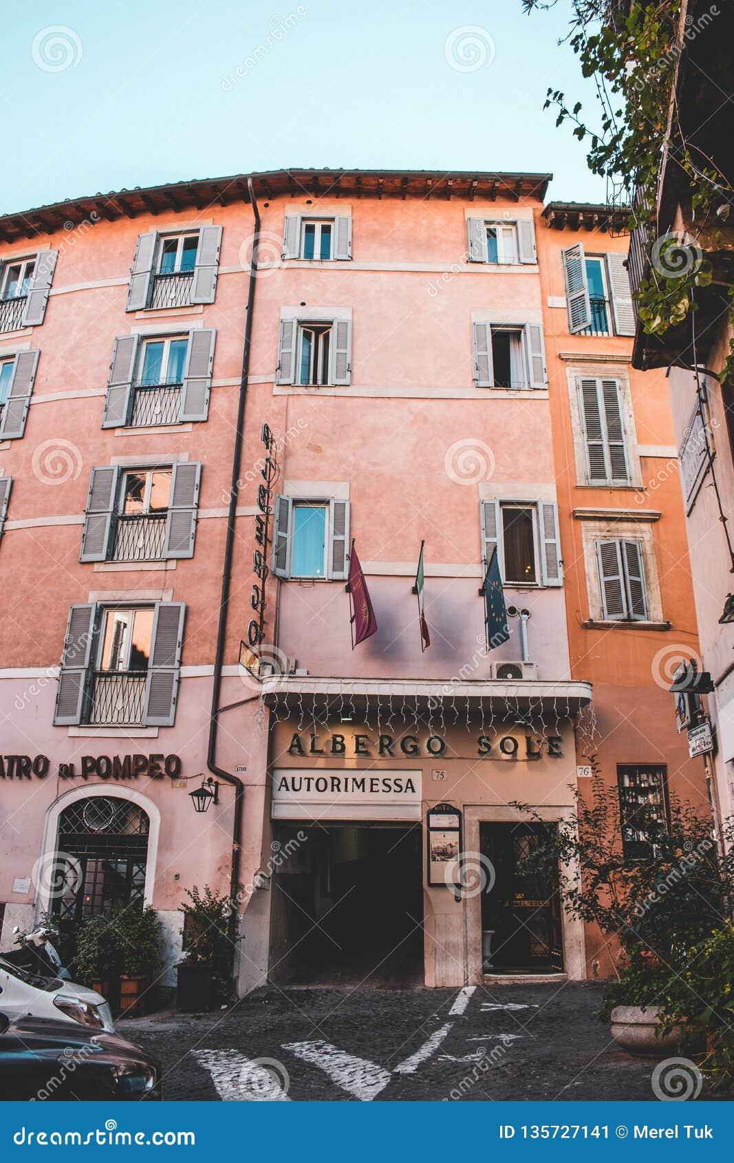 Ikonowi budynki Rzym strzelali podczas studytrip