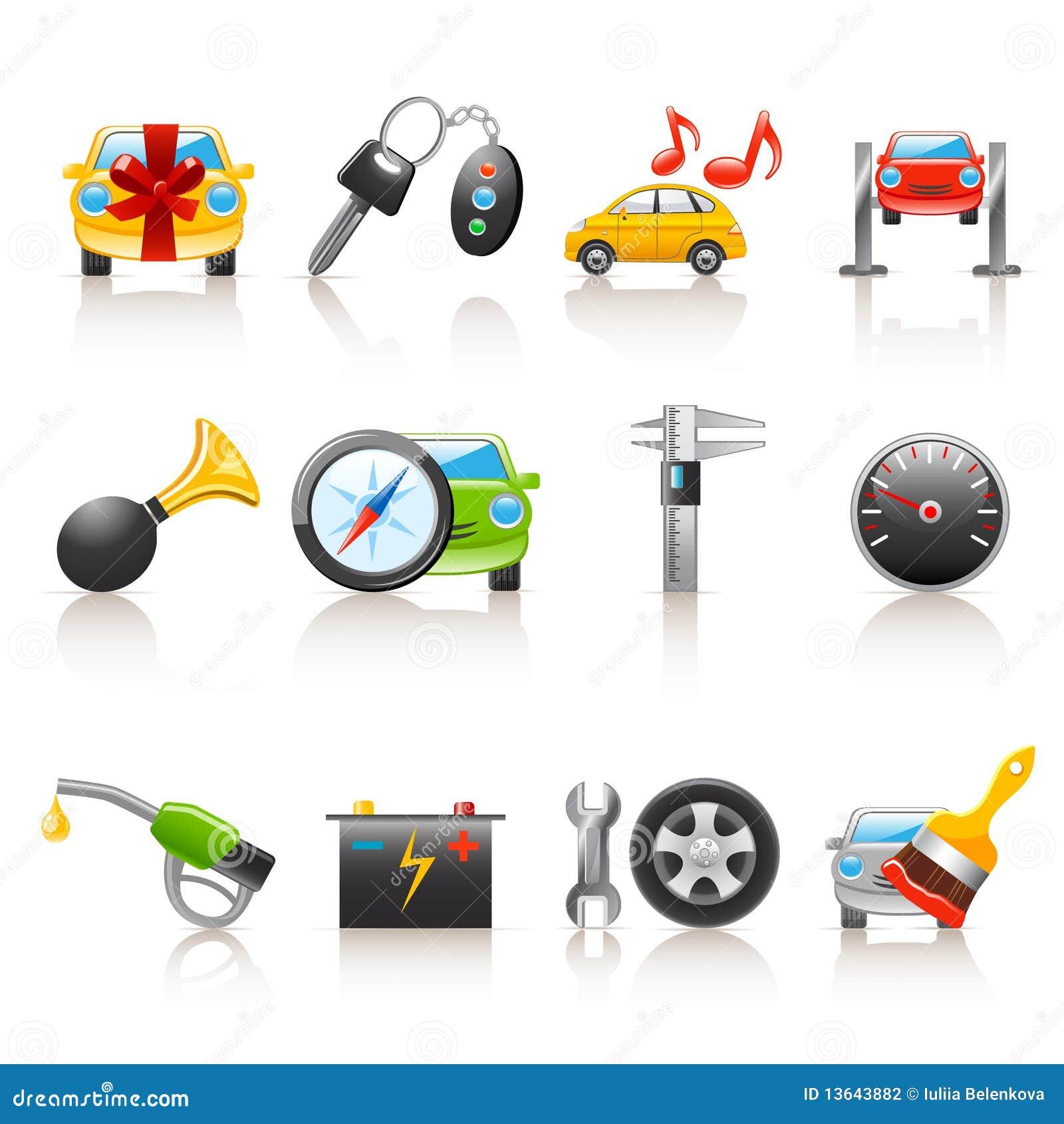 Ikony auto usługa