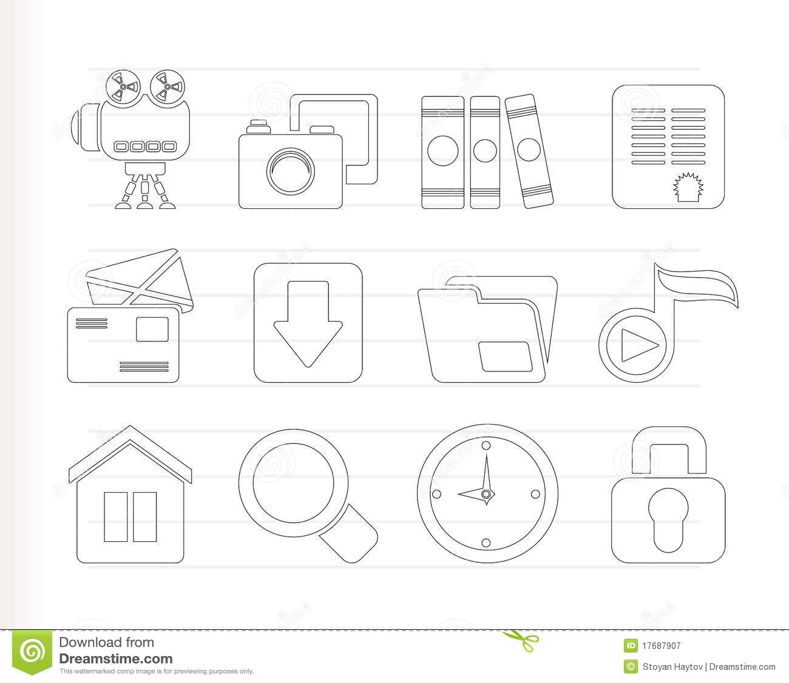 Ikony komputerowa strona internetowa