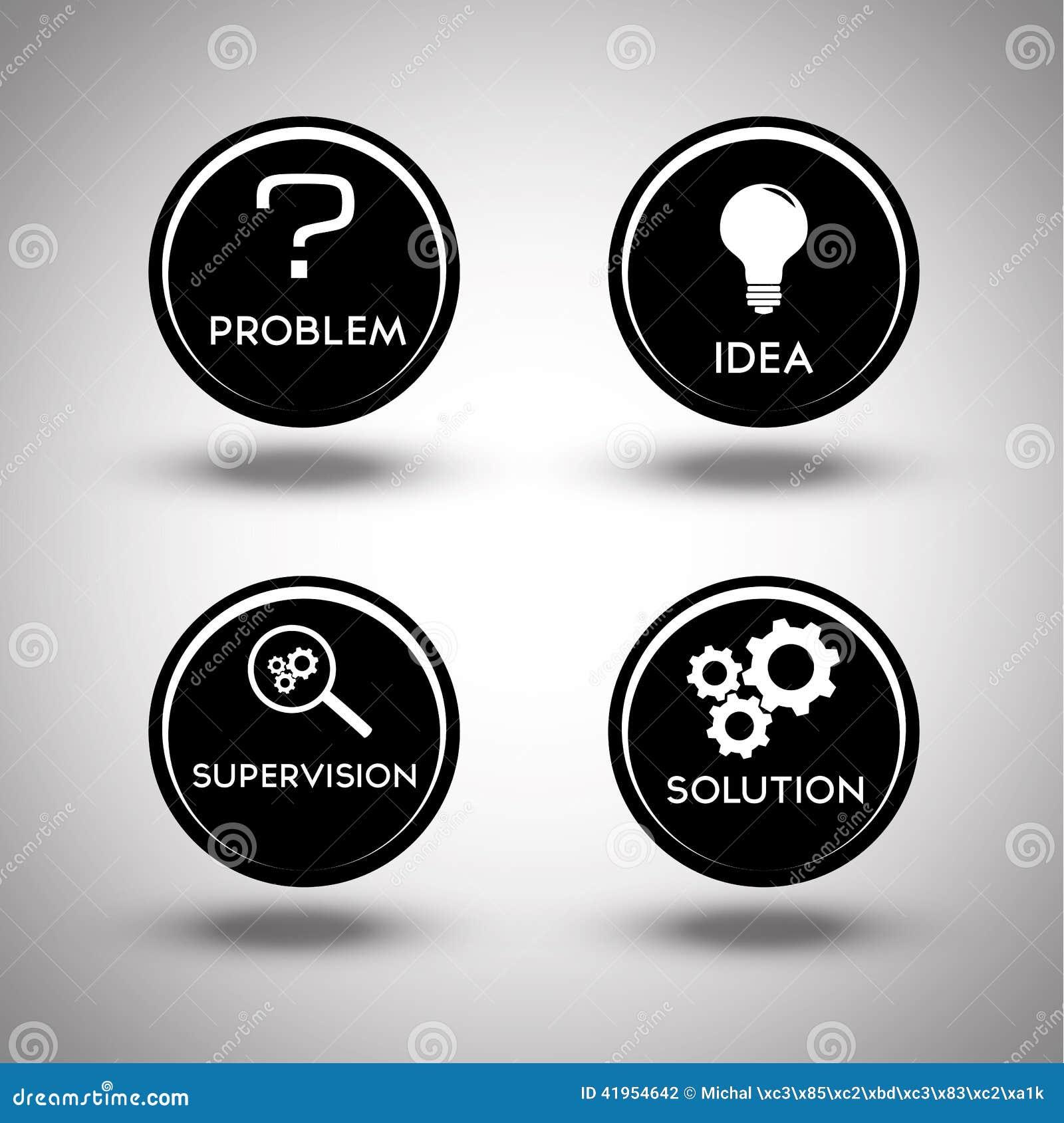 Ikony rozwiązywanie problemów proces