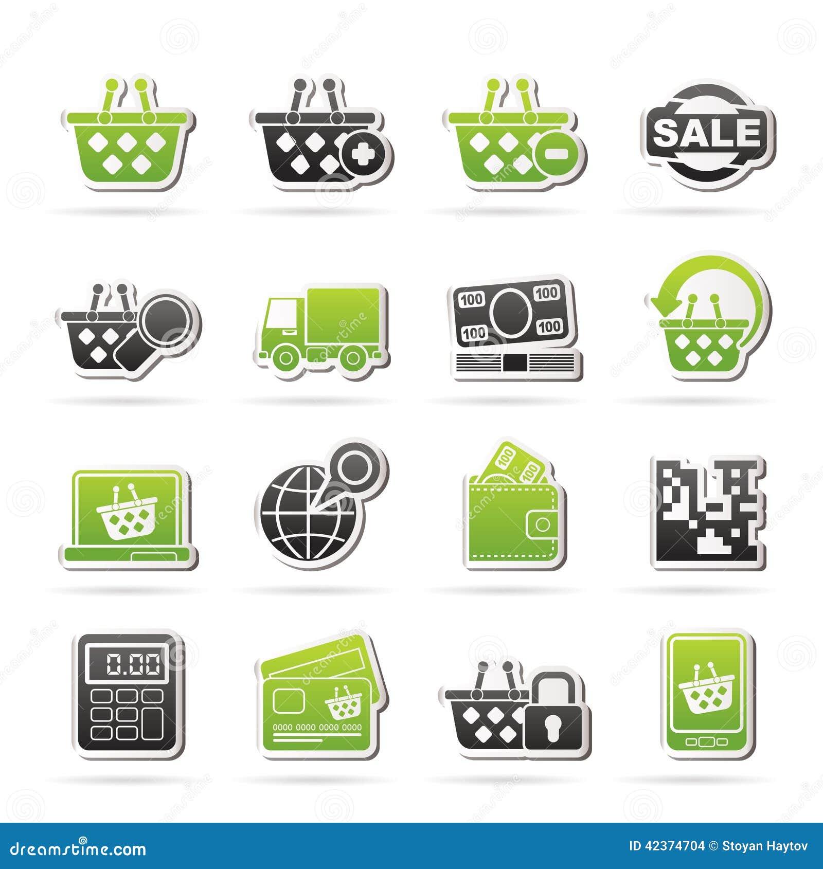 Ikony sprzedawać detalicznie zakupy