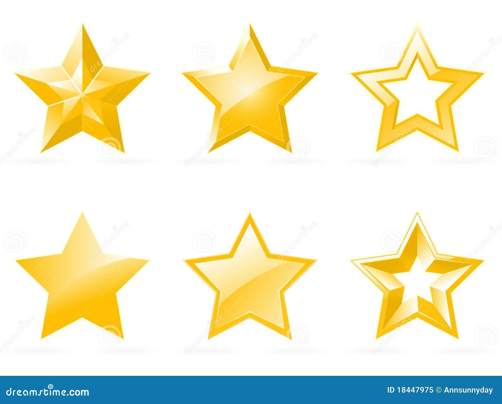 Ikony ustawiają błyszczącą gwiazdę