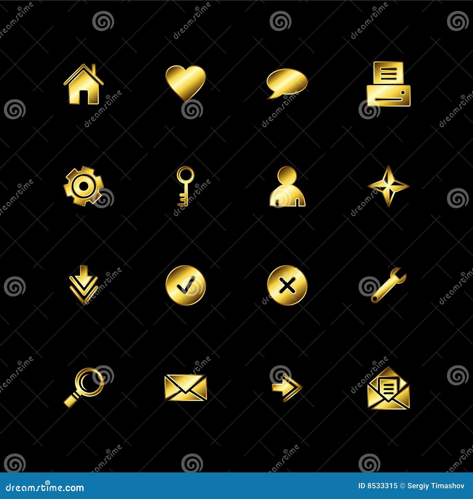 Ikony złocista sieć