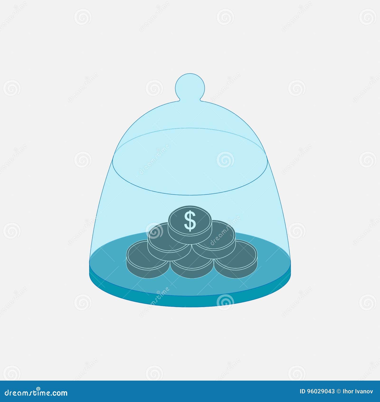 Ikony zbawczy depozytowy pudełko, finanse, ratuje pieniądze