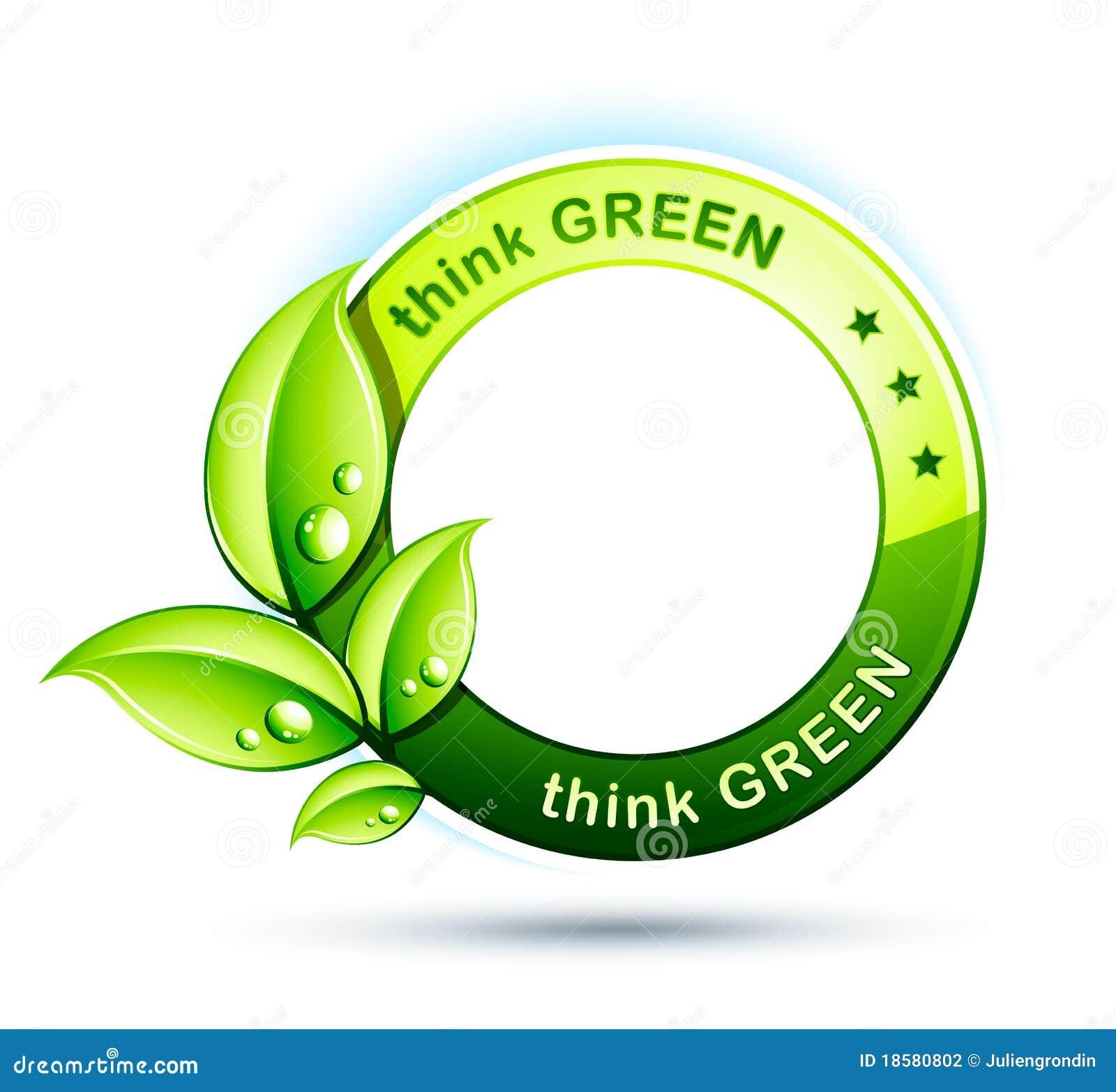 Ikony zielona myśl