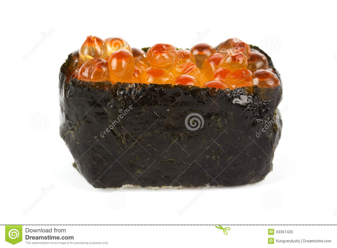 Ikura fish egg sushi stock photo image 43351420 for Fish eggs on sushi