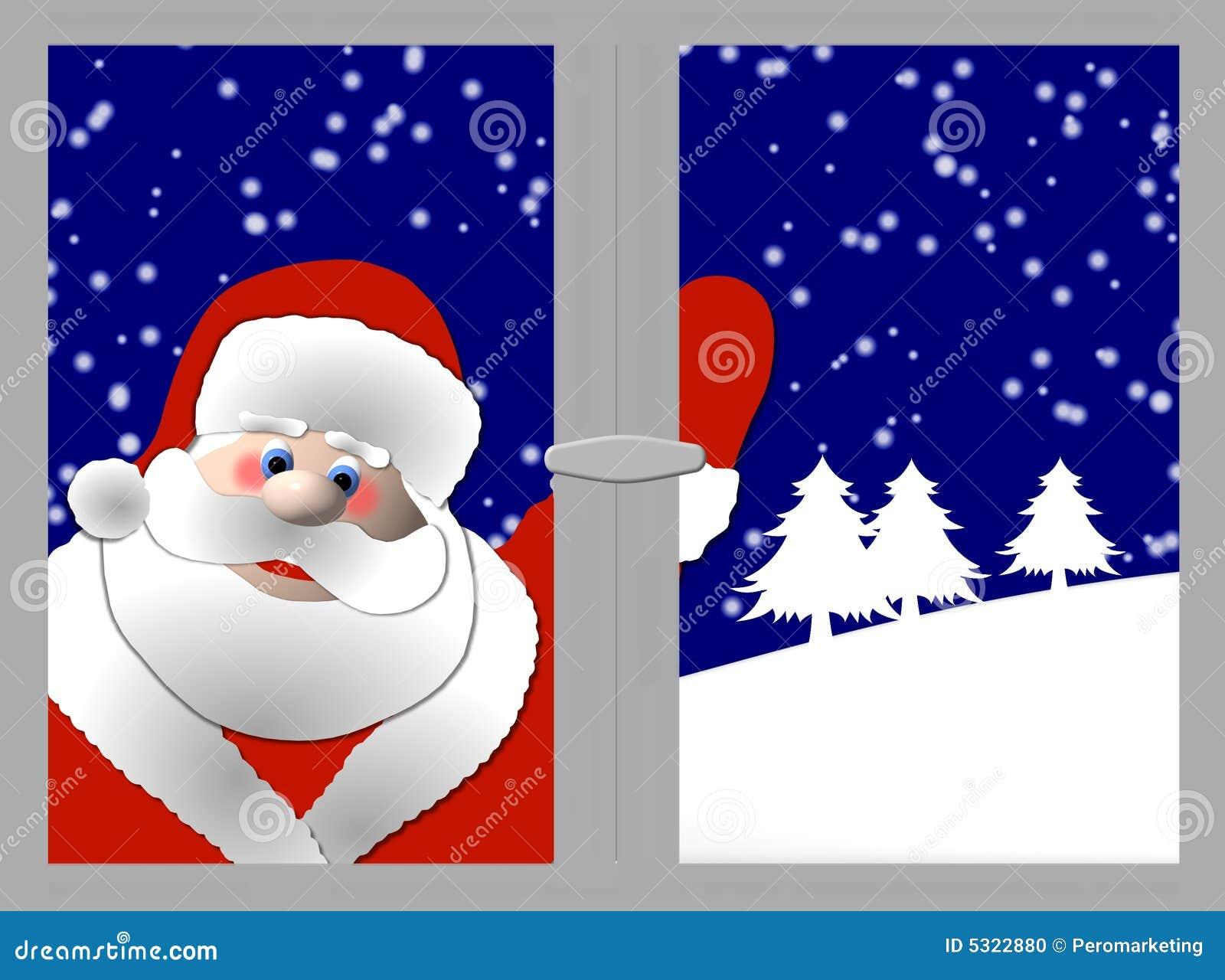 Download Il Babbo Natale Alla Finestra Illustrazione di Stock - Illustrazione di grafico, greet: 5322880