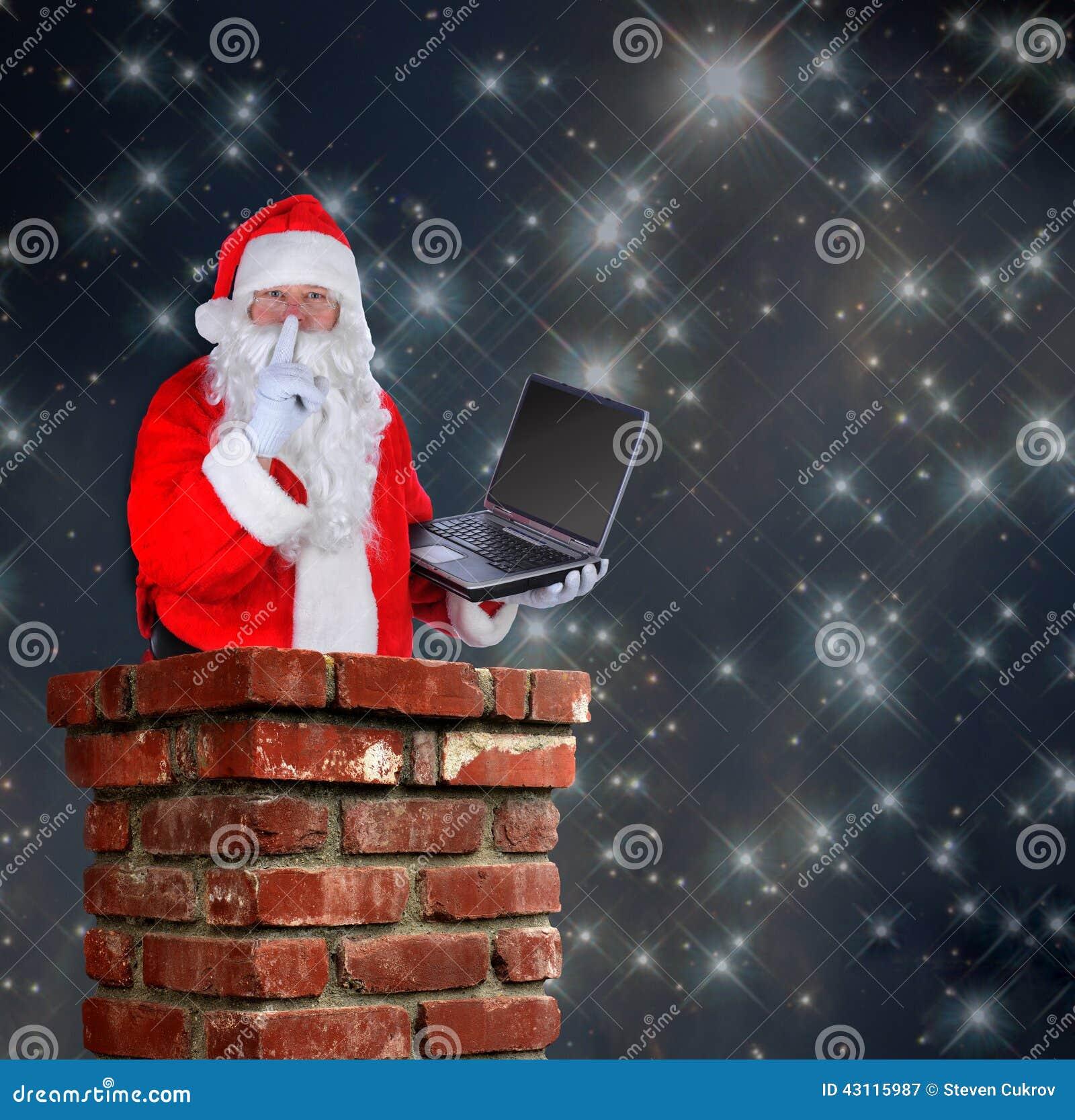 Il Babbo Natale in camino