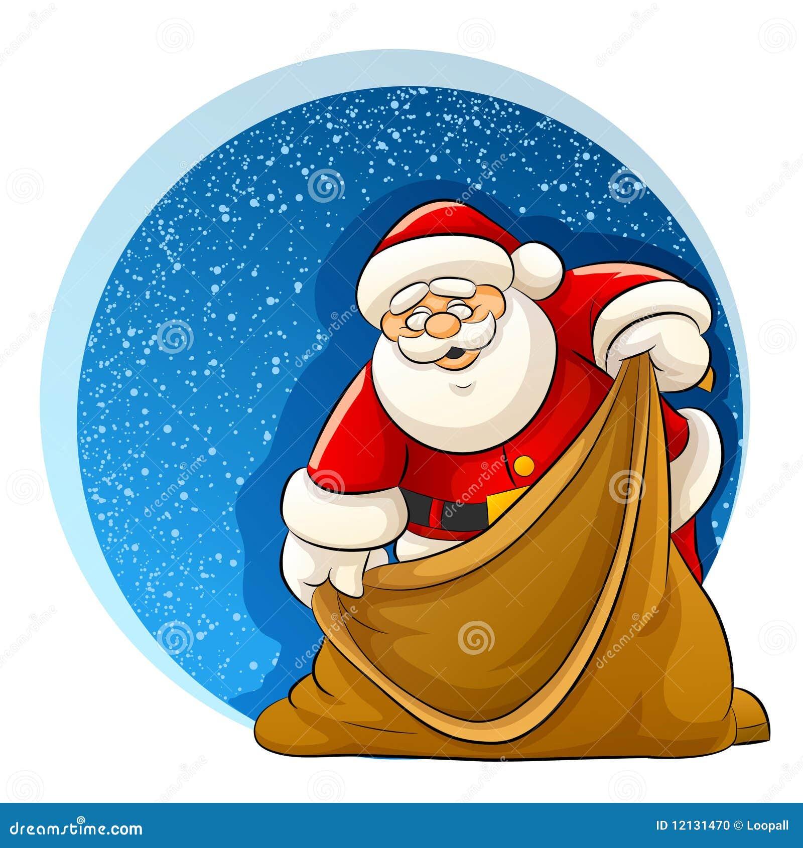 Il babbo natale con il sacco vuoto per i regali di natale for Regali di natali